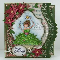 """From My Craft Room: Be Merry 3-Step Card - Magnolia-licious """"W""""ednesday Post #99"""