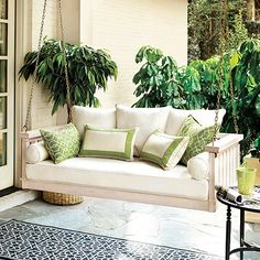 Sunday Porch Swing....I have always wanted one..will purchase one of these days...when I find the room for it!