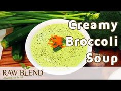 How to Make a Creamy Broccoli Soup Recipe in a Vitamix Blender by Raw Blend - YouTube