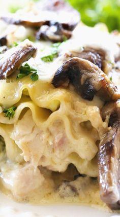chicken spinach mushroom alfredo roll ups more alfredo rolls pasta ...