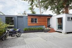 Backyard Shipping Container Office Space by building Lab Inc