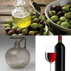 Goods from Mediterranean Basin- Olive oil, Glassware, and Wine Sources: http://www.metmuseum.org/toah/hd/rgls/hd_rgls.htm http://www.leaningladderoliveoil.com/faqs/