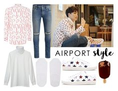 """Super Junior's Leeteuk"" by quinn-avina ❤ liked on Polyvore featuring Yves Saint Laurent, Tiger of Sweden, Vivienne Westwood, Uniqlo, Jack & Jones, men's fashion, menswear and airportstyle"
