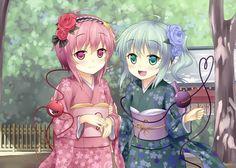 pink is Yuki, blue is Chiyo