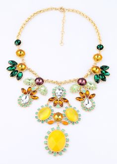 2013 new Fashion accessories neon color block luxurious necklace Factory Wholesale