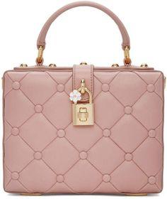 Dolce  amp  Gabbana Pink Dolce Box Bag Studded Handbags cfac2f3d5c5