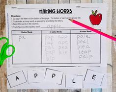 BACK TO SCHOOL Mystery WORD SORTS Distance Learning Google Classroom & Printable Phonics Words, Cvc Words, 2 Letter Words, Word Games For Kids, 2nd Grade Activities, Spring Words, Words Containing, Halloween Words, Spelling Patterns