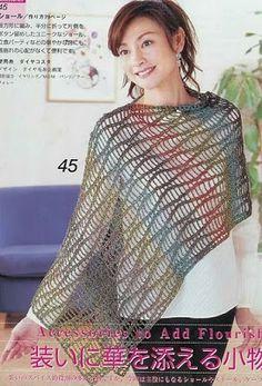 Crochet Stole chart / diagram / pattern