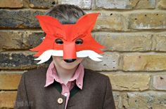 Make a Fantastic Mr Fox Mask - perfect for World Book Day, Autumn/ Fall Costumes, Woodland creatures or Roald Dahl Day. Comes with a free Printable too and made from Cereal Boxes. Perfect!