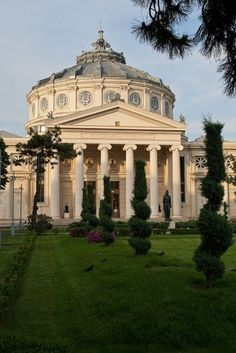 """The Romanian Athenaeum  is a concert hall in the center of Bucharest, Romania and a landmark of the Romanian capital city. Opened in 1888, the ornate, domed, circular building is the city's main concert hall and home of the """"George Enescu"""" Philharmonic and of the George Enescu annual international music festival. romaniasfriends.com/City Break"""