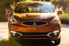 2017 Mitsubishi Mirage exterior front grill and headlights Mitsubishi Mirage, First Time Driver, Front Grill, Cruise Control, Motorhome, View Photos, Basin, Exterior, Photo And Video