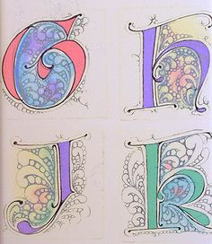 Artful letters with Flux by Maria Thomas, Zentangle co-founder