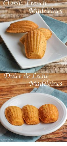 Classic French Madeleines and Dulce de Leche Madeleines --So good and so easy! No mixer required!