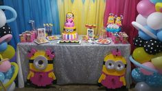 Isabella minions girl birthday party