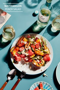 What better way to celebrate #NationalWatermelonDay than with our refreshing Sutter Home Pinot Grigio and a fruity summer salad.