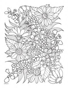 Flower Bouquet For Valentine Day Coloring Page | tattoos | Coloring ...