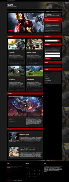 Ithaca I Gaming reviews theme for WordPress