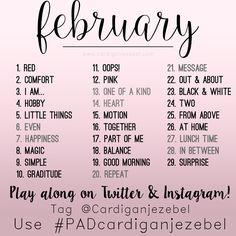 February 2016 Photo A Day challenge #PADcardiganjezebel via www.cardiganjezebel.com