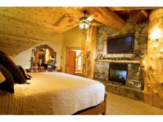 My Log Cabin Dream Home Bedroom