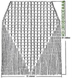 patrón de parte delantera de crop top crochet