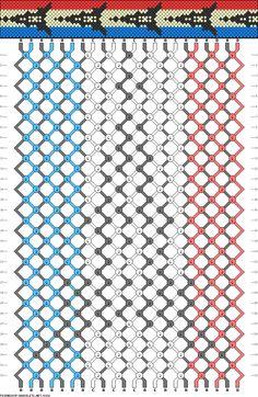 friendship bracelet patterns from France | 8028 - friendship-bracelets.net