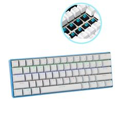 79.99$  Buy here - http://alikqx.worldwells.pw/go.php?t=32740781712 - RK61 Portable Wireless Bluetooth Mechanical Keyboard Mini Keyboard  61 Keys Keybaord LED Backlit for Gaming /Work 79.99$