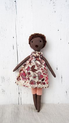 Violette Soft doll handmade one of a kind by lespetitesmainsS