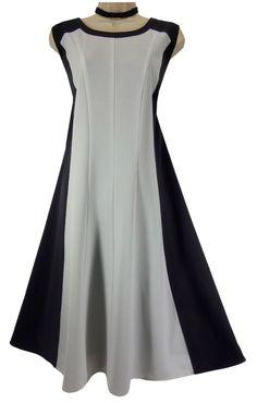 20 2X SEXY Catherines BLACK & WHITE PANEL DRESS Summer Wedding Evening PLUS SIZE #Catherines #ALine #Versatile