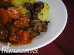 Burgundi marharagu Chicken Wings, Pork, Meals, Cooking, Sweet, Ethnic Recipes, Limousin, Cook Books, Kale Stir Fry