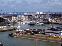 The marina area of Zeebrugge from the top of the water tower.