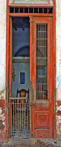 Colonial wooden doors in Historic Havana, Cuba. I ♥ Havana http://Netssa.com/havana.html