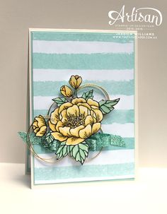 Stampin' Up!'s new Birthday Blooms stamp set from Occasions Catalogue 2016 I Watercolour with Hello Honey and Mint Macaron