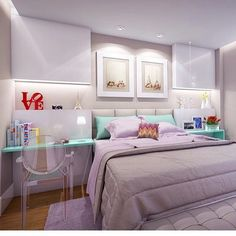 lilac, glass and modern interior photo