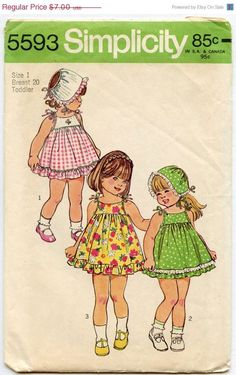1970s Vintage Sewing Pattern Simplicity 5593 by GreyDogVintage