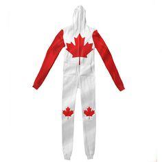 Adult Jumpsuits - Canada Day Adult Jumpsuit