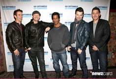 (L-R) Joey McIntyre, Donnie Wahlberg, Jordan Knight, Danny Wood and Jonathan Knight of the band  New Kids On The Block concert at Gramercy Theatre on February 15, 2015 in New York City.  (Photo by Paul Zimmerman/WireImage)