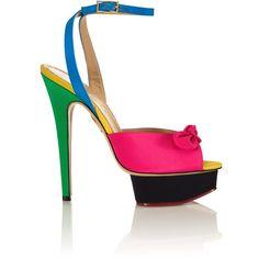 Charlotte Olympia: Serena Sandal ($945) ❤ liked on Polyvore