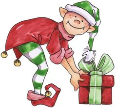 Elf and present