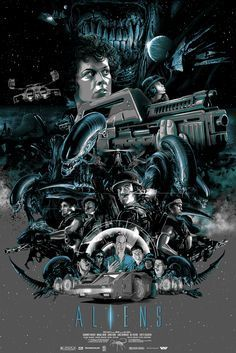 """Aliens"" by Vance Kelly via Cool Geek Film Poster Art... - geektyrant"