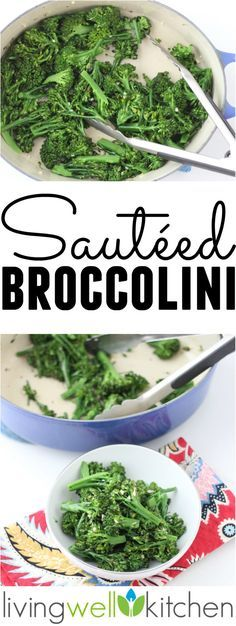 Need an easy, quick and healthy side dish? Try this tasty Sautéed Broccolini! It's a simple recipe to make, needs only 5 ingredients, and is vegan and gluten free.