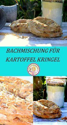 Backmischung für Kartoffel Kringel, herzhaft, backen, Brötchen, Geschenk, Mitbringsel, grillen, Geschenkidee, DIY
