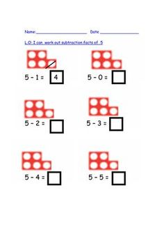 Visual take away using numicon pictures by auregbula - Teaching . Math Subtraction, Subtraction Activities, Kindergarten Math, Teaching Math, Numicon Activities, Numeracy, Key Stage 1 Maths, Maths Eyfs, Math Challenge