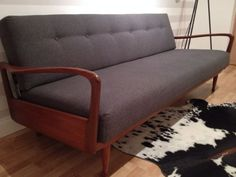 Greaves And & Thomas Sofa Bed Danish Retro Mid Century Vintage Teak Afromosia
