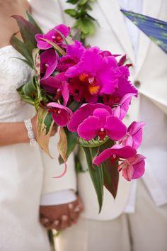 Silk Hawaiian Wedding Bouquets Design