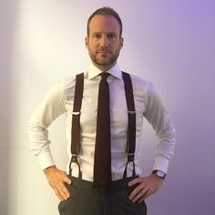 Imo braces are much more comfortable than belts #bespoke #sartorial #albertthurston #ginoventurini #mensfashion #menswear #work #suitup #suit #friday #instagood #weekend #banking #fun #lifestyle #money #grenadinetie #tie #shirt #vienna