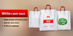Retail Carry Bags (Summary) - Branding Your Business Through Plastic Carrier Bags - Packing Supply Plastic Shopping Bags, Paper Shopping Bag, Plastic Carrier Bags, Packing Supplies, Custom Screen Printing, Branding Your Business, Carry On Bag, Summary, Brand You
