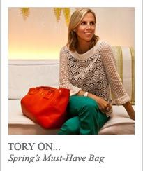 Love all things Tory Burch. I want this bag for Spring!