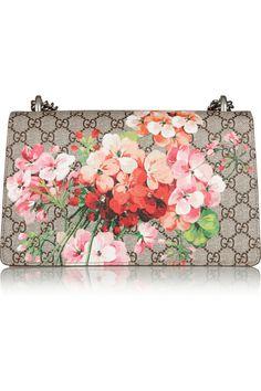 Gucci Sac porté épaule en toile enduite et daim Dionysus Blooms NET-A-PORTER.COM