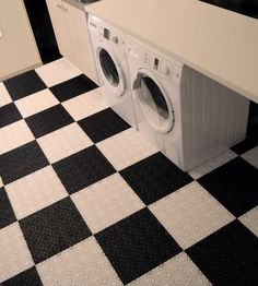 Clean out the basement storage room laundry room garage? Add Bergo Floorings & Transform a Laundry Room Floor (with Peel and Stick Tiles ...