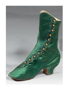 C. 1850's~1860's, Victorian Boots. ~ ~ Stunning Color!